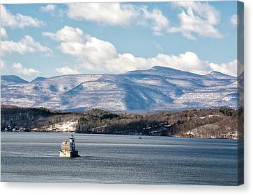 Catskill Mountains With Lighthouse Canvas Print