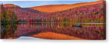 Canvas Print featuring the photograph Catskills Panorama 1 by Mark Papke
