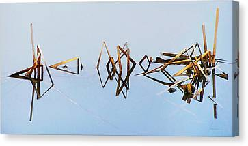 Cattail Reflections Canvas Print