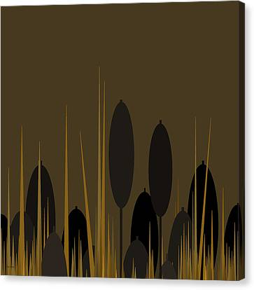 Cattails Canvas Print by Val Arie