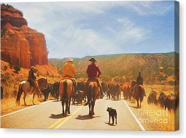 Cattle Call On Boulder Mountain Canvas Print
