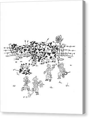 Cattle Rustlers Canvas Print
