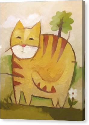Catty Canvas Print by Lutz Baar
