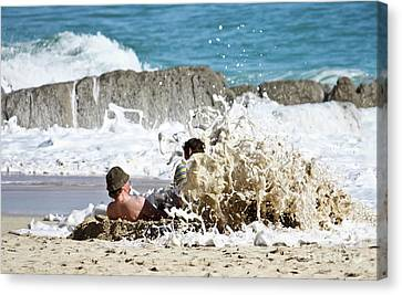 Canvas Print featuring the photograph Caught From Behind by Terri Waters