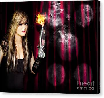 Caught In The Act Of Setting The Stage On Fire Canvas Print by Jorgo Photography - Wall Art Gallery