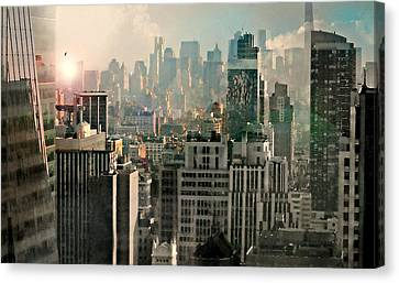 Hyatt Hotel Canvas Print - Caught In The Capture by Diana Angstadt