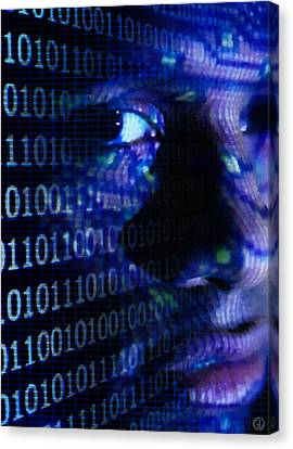 Canvas Print featuring the digital art Caught In The Net by Gun Legler