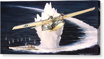 Caught On The Surface Canvas Print by Marc Stewart
