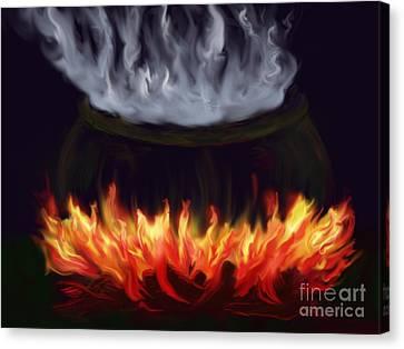 Cauldron Canvas Print by Roxy Riou