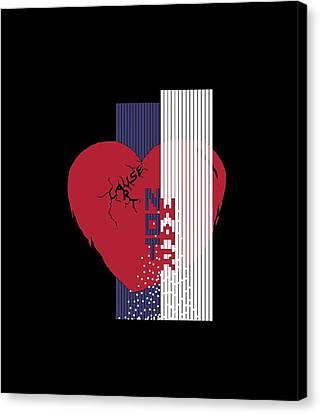Cause Art Not War Transparent Canvas Print by Wendy Rickwalt