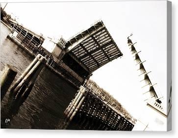 Canvas Print featuring the photograph Causeway Bridge Wrightsville Beach by Phil Mancuso