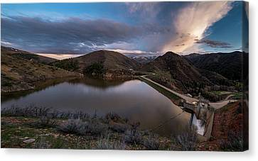 Causey Spring Sunset Canvas Print by Justin Johnson
