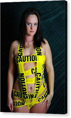 Caution Canvas Print by Dana  Oliver