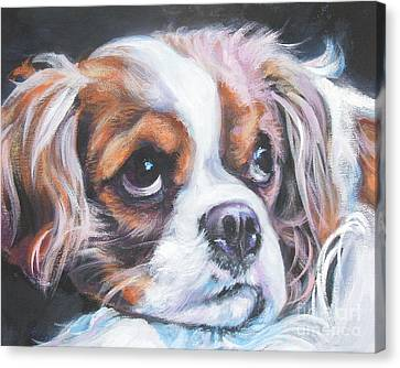 Cavalier King Charles Spaniel Blenheim Canvas Print by Lee Ann Shepard