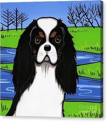 Cavalier King Charles Spaniel Canvas Print by Leanne Wilkes