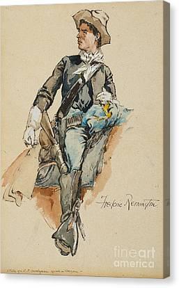 Cavalryman Made In Arizona Canvas Print by MotionAge Designs