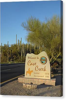 Cave Creek, Arizona Canvas Print by Gordon Beck