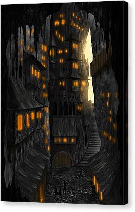 Cave Dwellings 1 - By Diana Van Canvas Print by Diana Van
