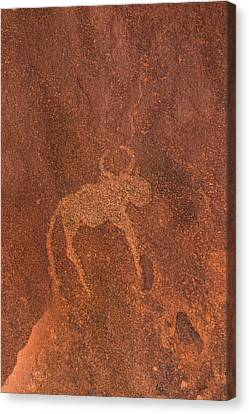 Cave Painting By Bushmen, Damaraland Canvas Print by Panoramic Images