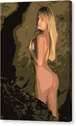 Cave Woman Canvas Print by Brad Scott