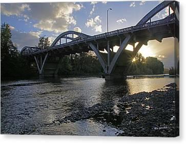 Caveman Bridge At Sunset Canvas Print