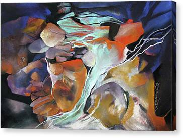 Cavernous Tumble Canvas Print by Rae Andrews