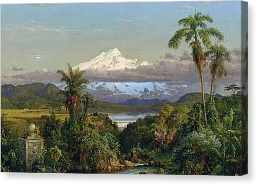 Cayambe Canvas Print by Frederic Edwin Church