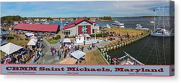 Michael Canvas Print - Cbmm St Michaels Md by Brian Wallace