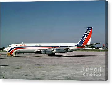 Fixed Wing Multi Engine Canvas Print - Cc-ceb, Boeing 707-385c, Lan Chile Cargo, Jt3d-3b S2, Jt3d by Wernher Krutein