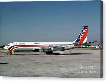 Cc-ceb, Boeing 707-385c, Lan Chile Cargo, Jt3d-3b S2, Jt3d Canvas Print by Wernher Krutein
