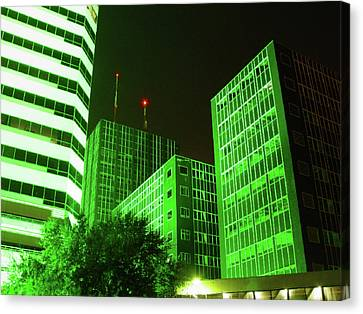 Cc27 Frost Bank At Night Canvas Print by James D Waller