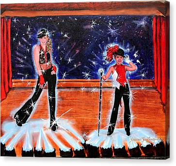 Cd Cover Design Jazz Dancers Canvas Print by Sandra Longmore