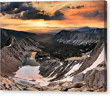 Cdt Sunrise Canvas Print by Leland D Howard