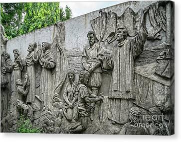 Cebu Carvings Canvas Print by Adrian Evans