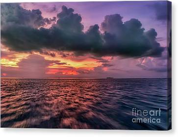 Canvas Print featuring the photograph Cebu Straits Sunset by Adrian Evans