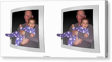 Cece - Gently Cross Your Eyes And Focus On The Middle Image Canvas Print by Brian Wallace