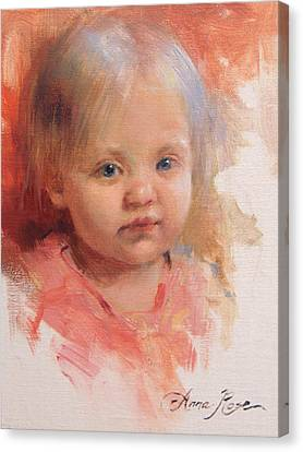Cece At 14 Months Old Canvas Print by Anna Rose Bain