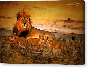 Cecil And Babies - Da Canvas Print by Leonardo Digenio