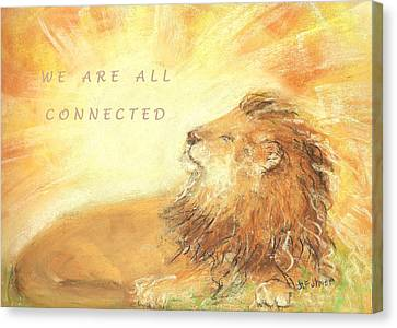 Canvas Print featuring the drawing Cecil The Lion by Denise Fulmer