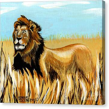 Cecil The Lion Canvas Print by Genevieve Esson