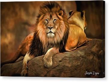 Lion Canvas Print - I Am Cecil by Leonardo Digenio