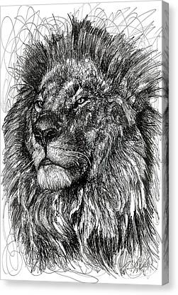 Cecil The Lion Canvas Print by Michael Volpicelli