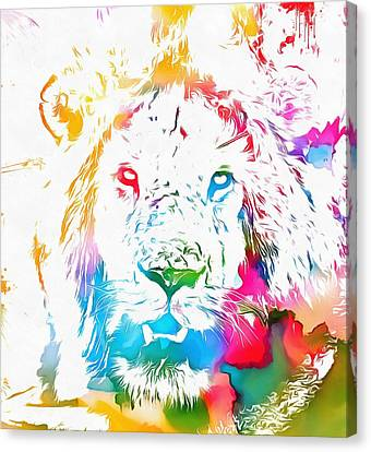 Cecil The Lion Watercolor Tribute Canvas Print by Dan Sproul