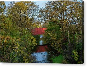 Cedar Bridge Canvas Print by Randall Branham