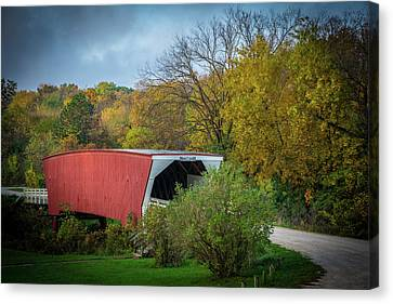 Cedar Covered Bridge Canvas Print by Randall Branham