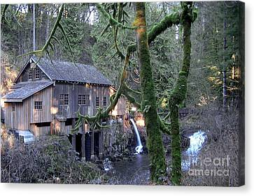 Canvas Print featuring the photograph Cedar Creek Grist Mill by Larry Keahey