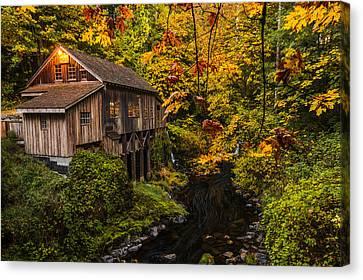 Grist Mill Canvas Print - Cedar Creek Mill by Dustin  LeFevre
