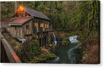 Cedar Grist Mill Canvas Print