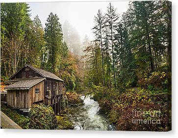 Grist Mill Canvas Print - Cedar Mill Classic by Jamie Pham