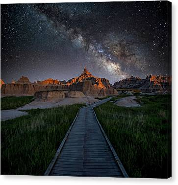 Canvas Print featuring the photograph Cedar Pass Milky Way by Darren White